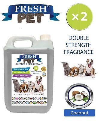 Fresh Pet Kennel Dog Disinfectant Double Strength Fragrance - 5L Coconut