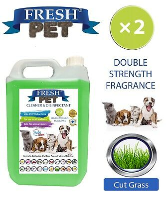 Fresh Pet Kennel Dog Disinfectant Double Strength Fragrance - 5L Cut Grass