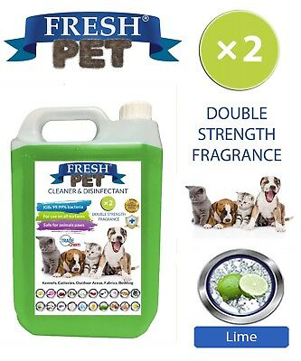 Fresh Pet Kennel Dog Disinfectant Double Strength Fragrance - 5L Lime