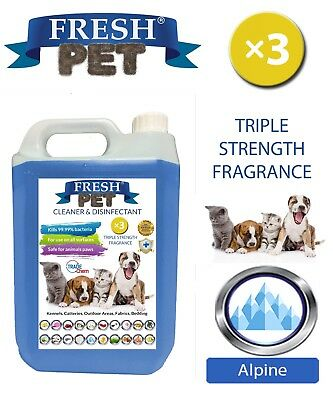 Fresh Pet Kennel Dog Disinfectant Triple Strength Fragrance - 5L Alpine