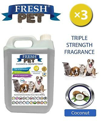 Fresh Pet Kennel Dog Disinfectant Triple Strength Fragrance - 5L Coconut