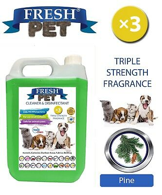 Fresh Pet Kennel Dog Disinfectant Triple Strength Fragrance - 5L Pine
