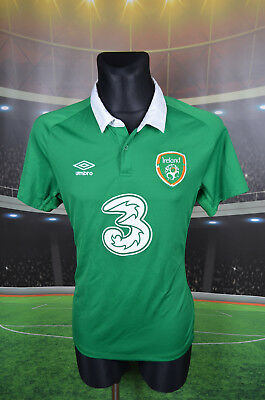 Ireland Eire Umbro Home Football Soccer Shirt (L) Jersey Top Trikot Green Large