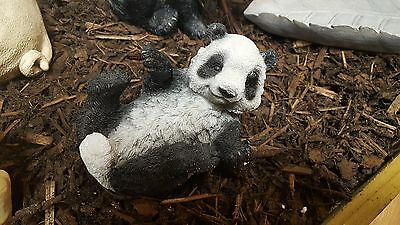 Small Resin Panda Garden Ornament