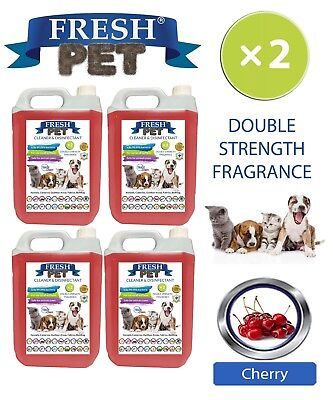Fresh Pet Kennel Dog Disinfectant Double Strength Fragrance 4x5L Cherry