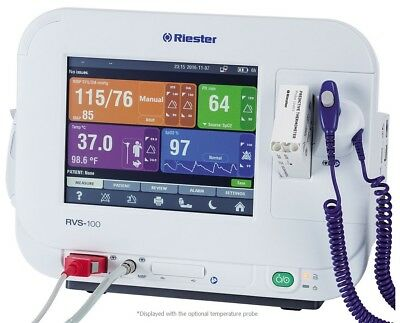 "NEW ! Riester RVS 100 Advanced Vital Signs Monitor w/8"" Color Touch Screen PROMO"