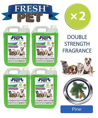 Fresh Pet Kennel Dog Disinfectant Double Strength Fragrance 4x5L Pine