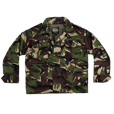 Kas Kids Boys Combat Padded Jacket Army Clothing Uniform Camo Cadet Camouflage