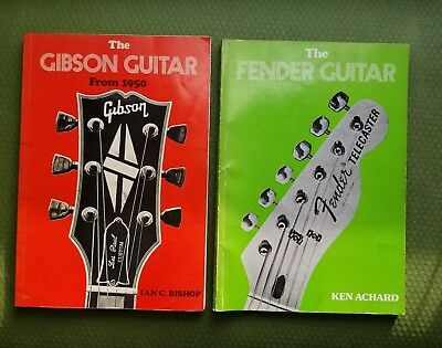Set of Gibson and Fender Guitar books -1977