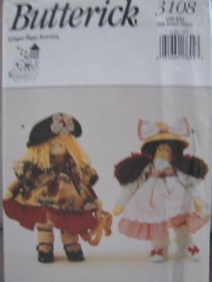 3108 Butterick UnCut Sewing Pattern Annie Apple Cheeks Doll with Outfits