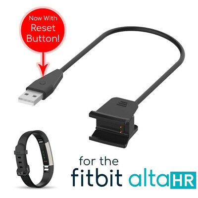 USB Charging Cable Charger Lead for FitBit Alta HR Tracker | With Reset Button