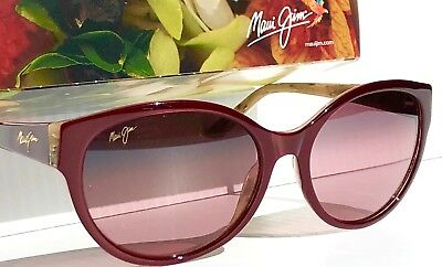 NEW* Maui Jim VENUS POOLS Ruby Burgundy POLARIZED Bronze Sunglass RS100-04B