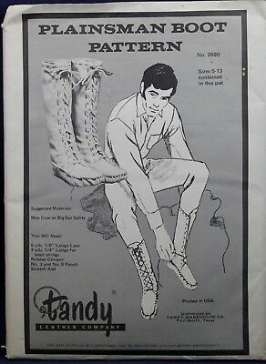 Vintage Plainsman Boot Pattern Pack - Tandy Leather 2690 NEW