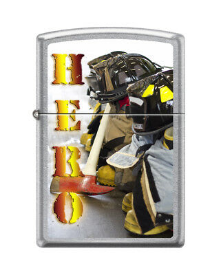 "Zippo ""Hero-Firefighter With Tools"" Street Chrome Finish Lighter, 5486"