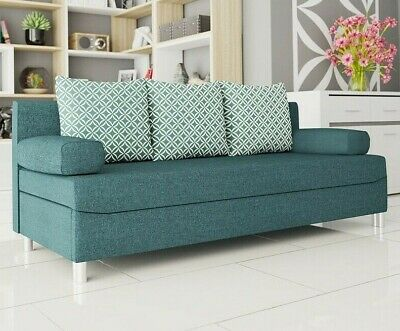 Sofa Bed DOVER Storage Container Sleep Function Fabric New