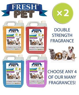 Fresh Pet Kennel Dog Disinfectant Double Strength Fragrance 4x5L Mix and Match