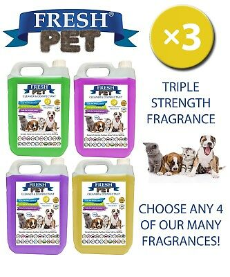 Fresh Pet Kennel Dog Disinfectant Triple Strength Fragrance 4x5L Mix and Match