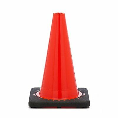 "12"" Orange Traffic Safety Cone with Black Base (Pack of 15)"