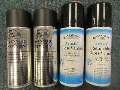 Winsor & Newton 400ml Artists Spray High Gloss, Gloss, Matt & Retouching Varnish