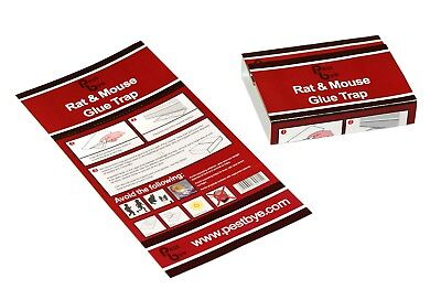 PestBye Easy To Use Domestic Comercial Mouse Rat Rodent Glue Trap