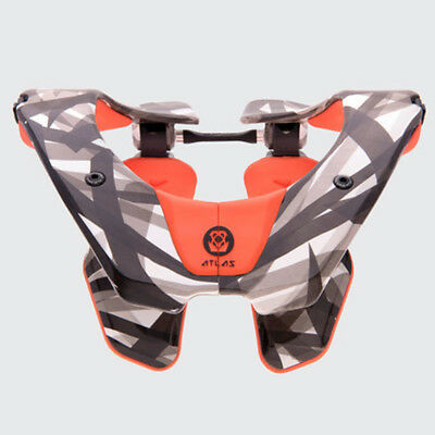 2018 Atlas Air Neck Brace Motocross Mx Adult - Orange Laser Enduro New