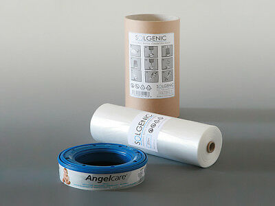 200m SOLGENIC LINER = 24x Angelcare Nappy Disposal System Refill Cassettes