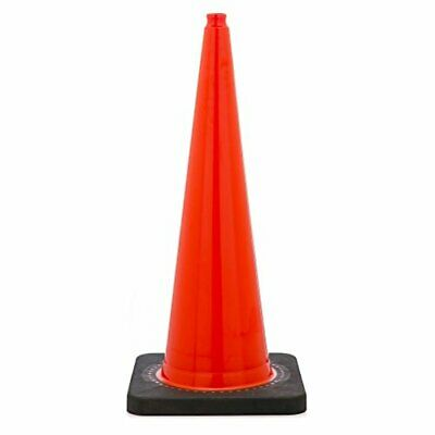"36"" Orange Traffic Safety Cone with Black Base (Pack of 6)"