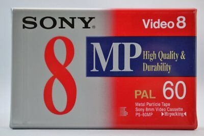 SONY 60min (8mm) Video8 Camcorder Video Kassette (P5-60MPD) NEU (world*) 004-815