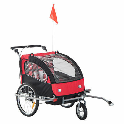 2 in 1 Multifunctional Bicycle Child Carrier Baby Trailer Stroller Jogger Kit