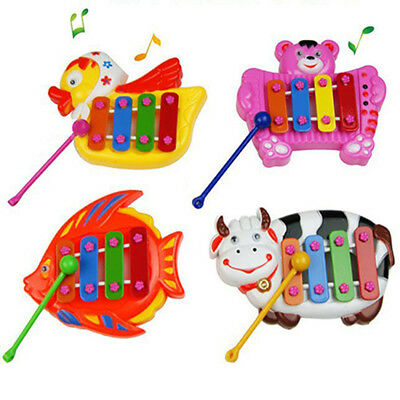 Toddler Bell Baby Cute 4 Tone Kid Toy Musical Animal Pattern Instruments