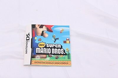 Nintendo 3DS -  New Super Mario Bros - Instruction Manual Only