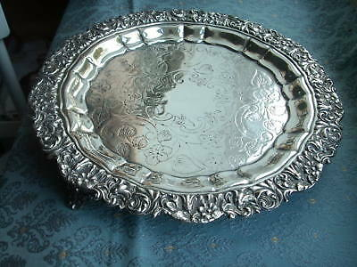 Old Antique Georgian English Silver Plated Drinks Serving Tray Sheffield c.1825