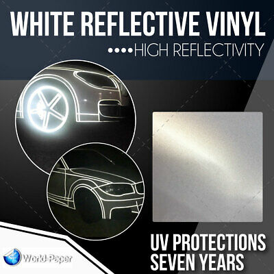 "White Reflective Vinyl sign supplies Sign Hight Reflectivity 24"" x 1 FT"