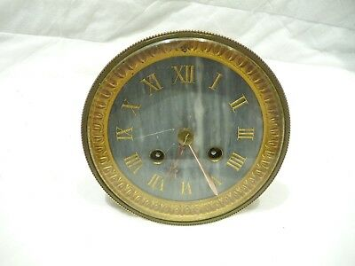 Antique French Striking Clock Movement 1890'S Working For Small Repair.