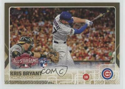 2015 Topps Update Series Gold/2015 #US242 Kris Bryant Chicago Cubs Rookie Card