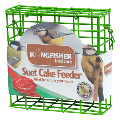 Suet Cake Bird Feeder Outdoor Wild Feed Hanging Holder Garden Green New UK
