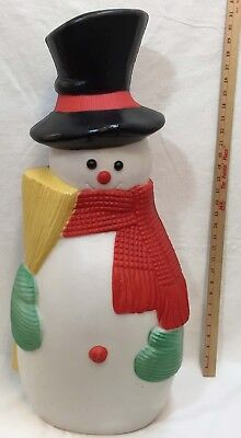Snowman Blow Mold 31 Broom Scarf Light Up Out Door Christmas Decoration Vintage