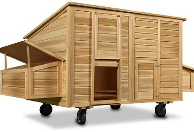Henhouse Chicken Coop Poultry Ark Run Home Wheeled Nest Box Hen House Hutch