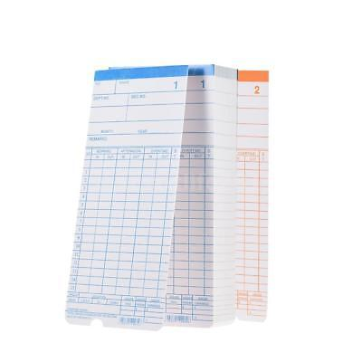 90pc/Pack Time Cards Monthly 2-Sided 18*8.4cm for Attendance Time Clock Y6X0