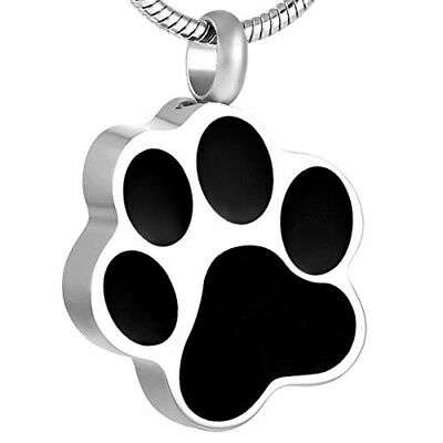 Footprint Pet Memorial Urns For Dogs Ashes Cremation Jewelry Pendant Keepsake