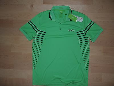 a2a425d89 Hugo Boss GR Paddy Pro Edition Moisture Manager Polo Golf Green Label M L  XXL