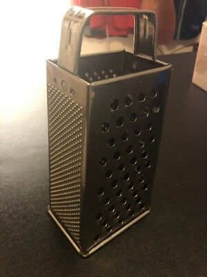 VTG Bromwell Stainless Steel Stand Style Cheese Grater w/Handle Large EUC