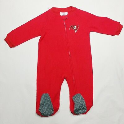 e7fed9fa8 Tampa Bay Buccaneers NFL Team Baby Infant 0 3M Fleece Red Logo Sleeper  Layette