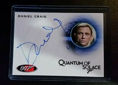 James Bond 007 Signature Daniel Craig QOS Autograph & Casino Royale relic cards