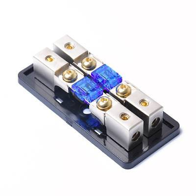 2 Way 8 Gauge High Quality In to Out Mini ANL Fuse Block with 2 60A Fuses 8GA*4