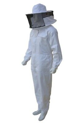 Professional White Beekeeping Suit Beekeeper Suit Round Veil Full Suit-XL-01