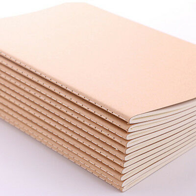 12Pcs A6 Kraft Notebooks Kraft Brown Blank Pages Blank Cover Kraft Journals AU