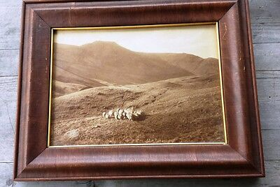 Vintage Framed Pictorialist Photo of Scotland – Arts and Crafts