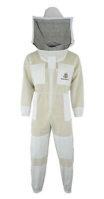 Professional Beekeeping jacket 3 Layer full suit ventilated Round Veil@S-01