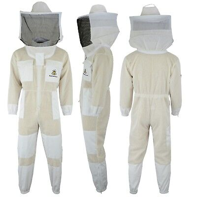 Professional Beekeeping jacket 3 Layer full suit ventilated Round Veil@M-01